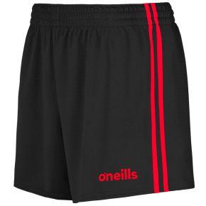 Kids' Mourne 2 Stripe Shorts Black / Red