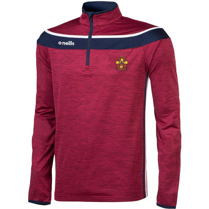 St Oliver Plunkett Eoghan Ruadh GAA Club Kids' Slaney 3s Brushed Half Zip Training Top