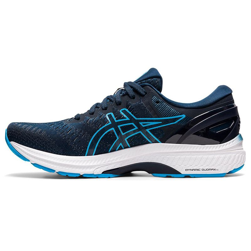 blue and aqua ASICS men's running shoes with excellent cushioning from O'Neills