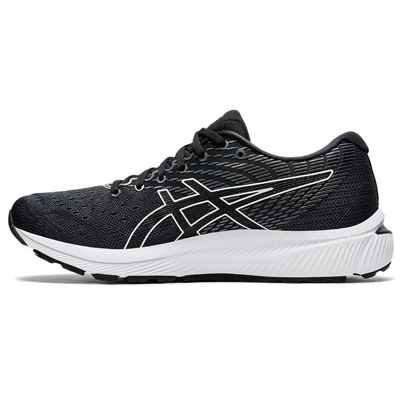 black, grey and silver ASICS men's laced runners, soft and flexible from O'Neills