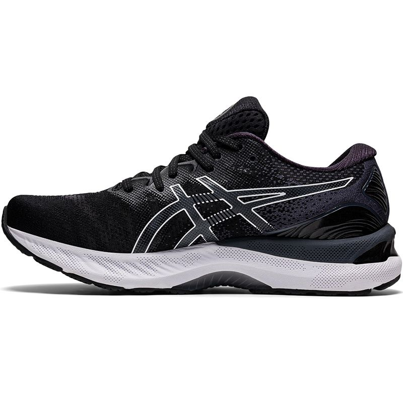 black and white ASICS men's runners with improved stability and a more balanced stride from O'Neills