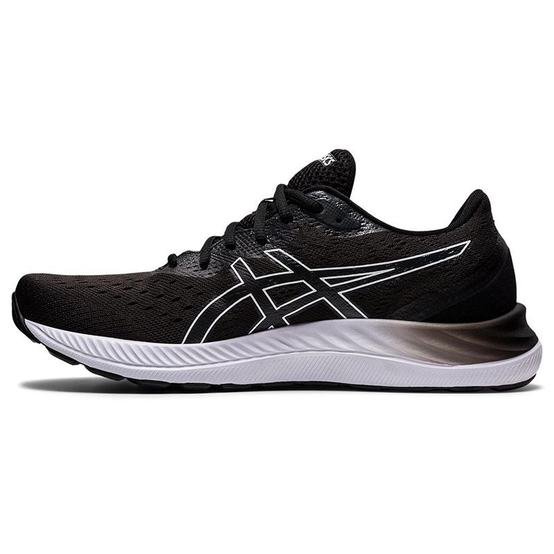 black and white ASICS men's running shoes with excellent comfort from O'Neills