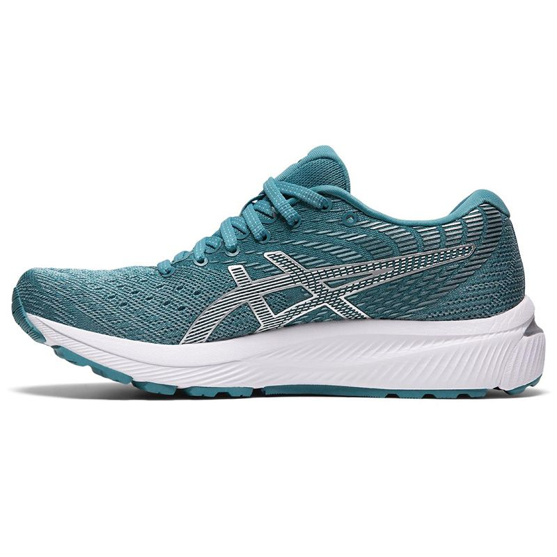 blue and white ASICS women's running shoes for everyday use from O'Neills