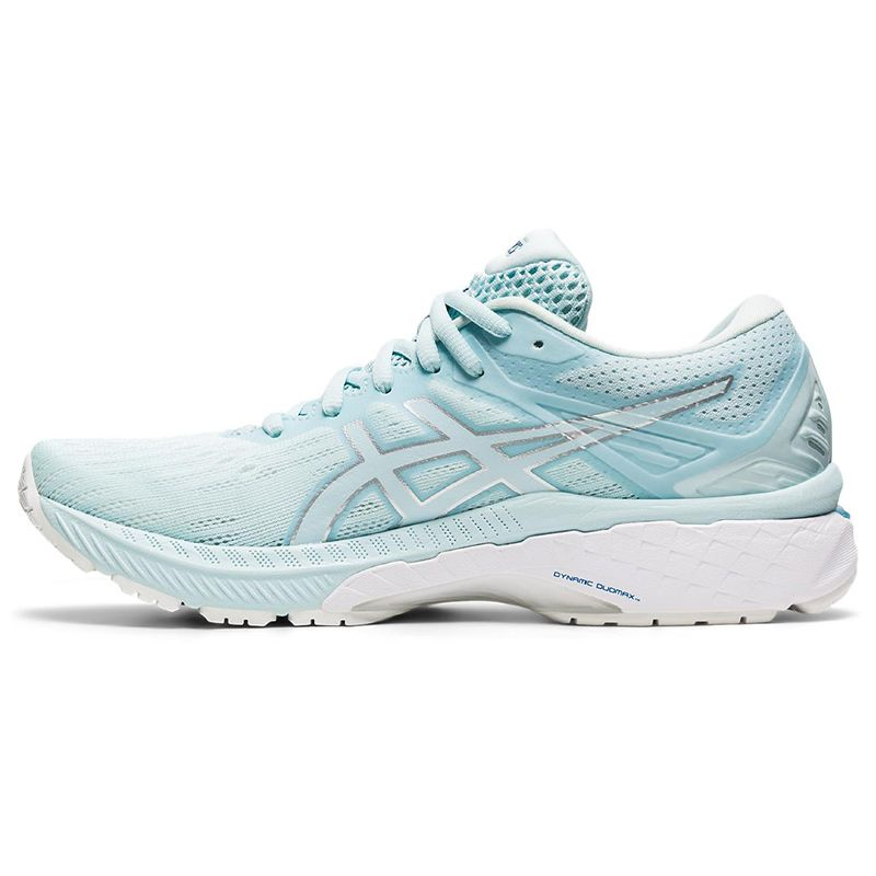 blue and white ASICS women's running shoes, redesigned for an improved fit, from O'Neills