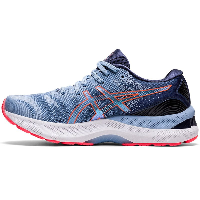 blue and pink ASICS women's runners with improved stability and a balanced stride from O'Neills