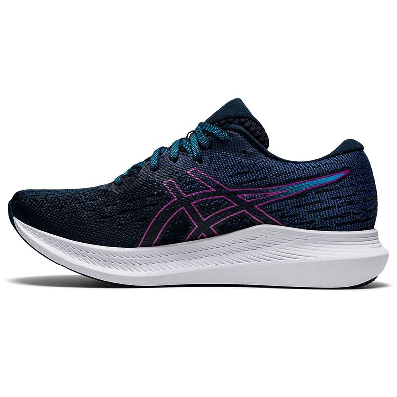 Navy and Blue ASICS Women's Evoride Running Shoes with mesh upper from O'Neills.