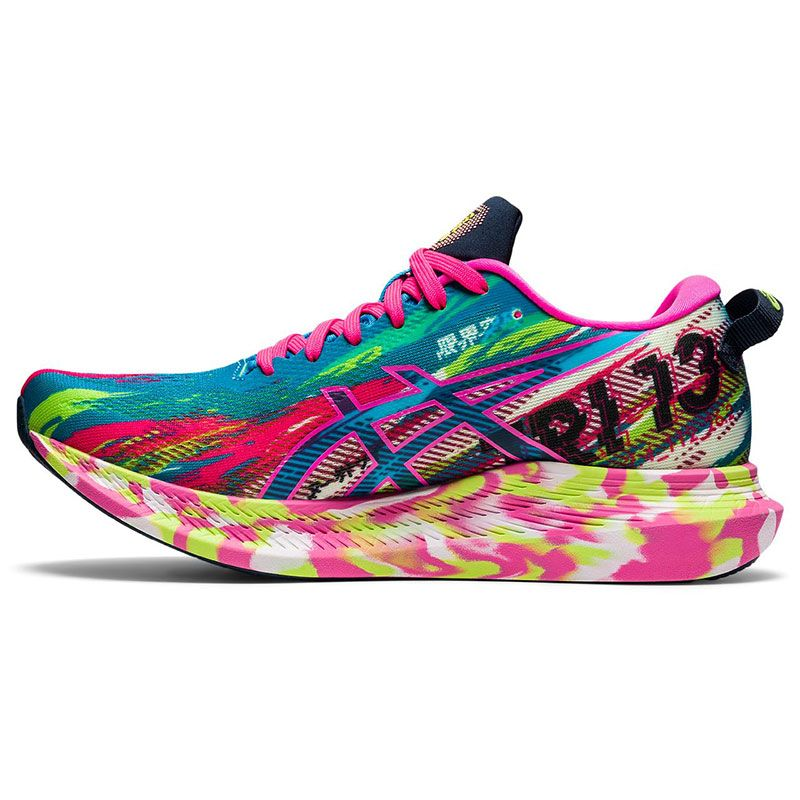multi coloured ASICS women's running shoes with a lightweight feel and more cushioning from oneills.com