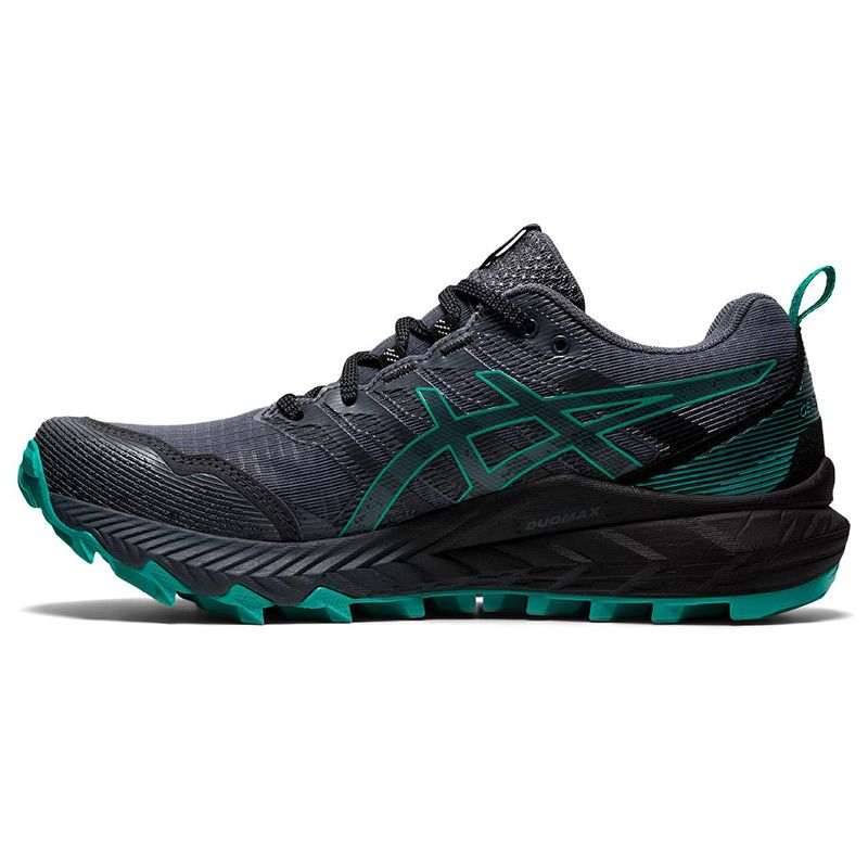 black and green ASICS women's running shoes with excellent durability from O'Neills