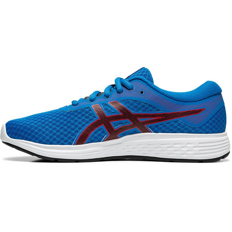 ASICS Kids' Patriot 11 GS Running Shoe Electric Blue /  Speed Red