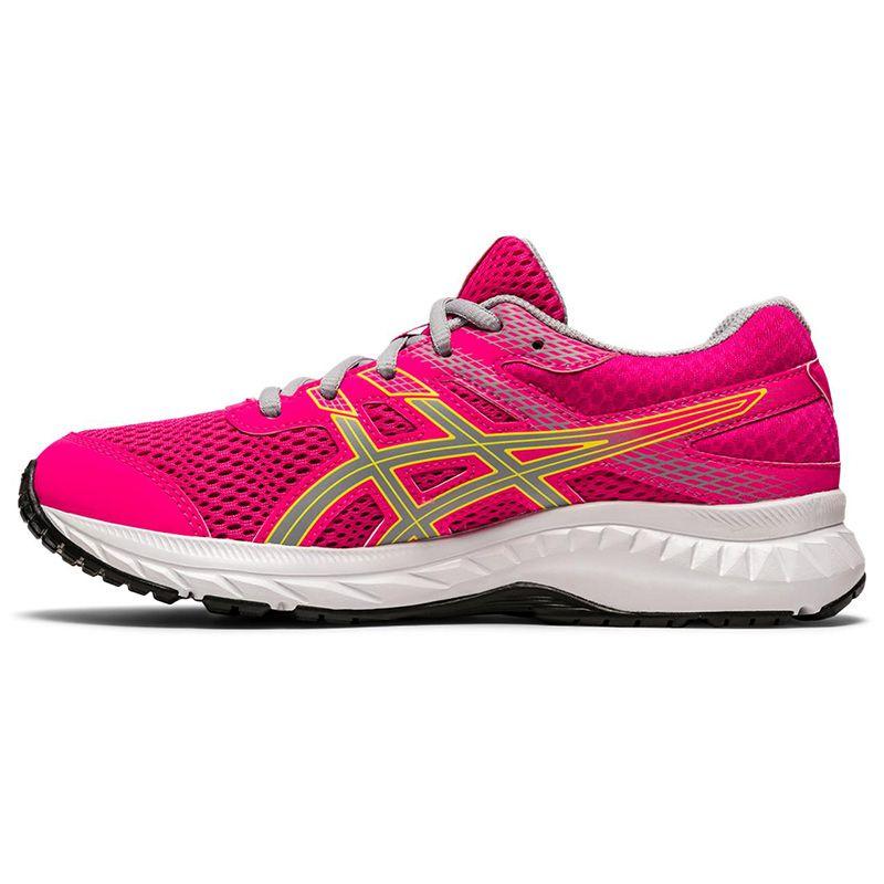 ASICS Kids' Contend 6 GS Running Shoes Pink Glo / Piedmont Grey
