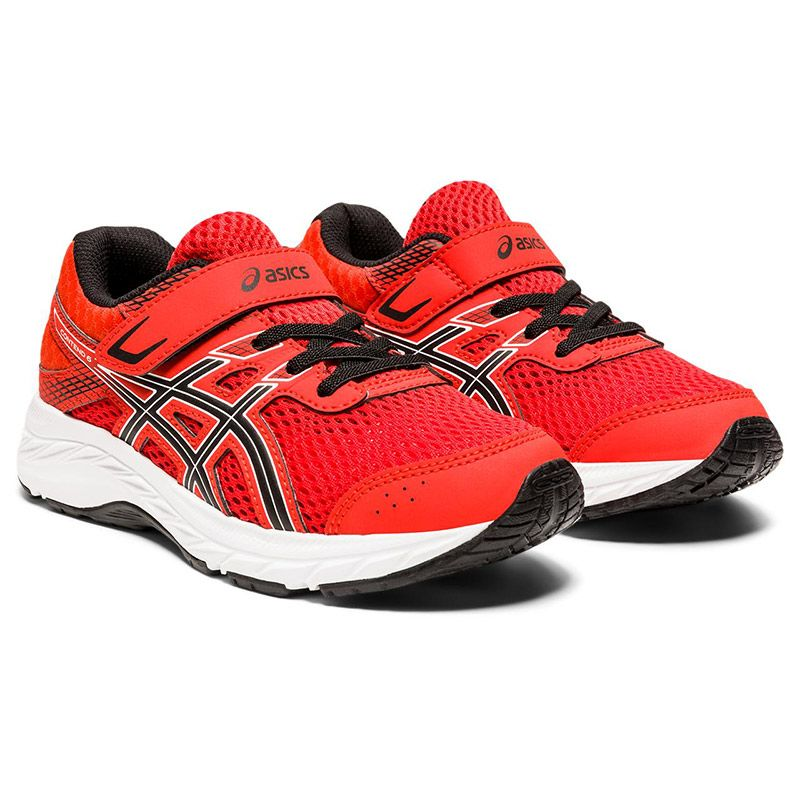ASICS Kids' Contend 6 PS Trainers Fiery Red / Black