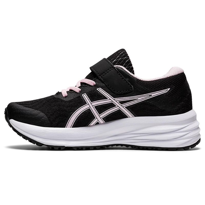 black and pink ASICS Kids' trainers with a bouncy and cushioned feeling underfoot from O'Neills