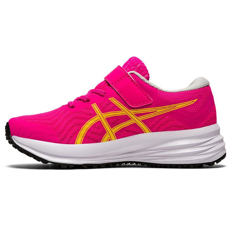 ASICS Kids' Patriot 12 PS Running Shoes Pink Glo / White