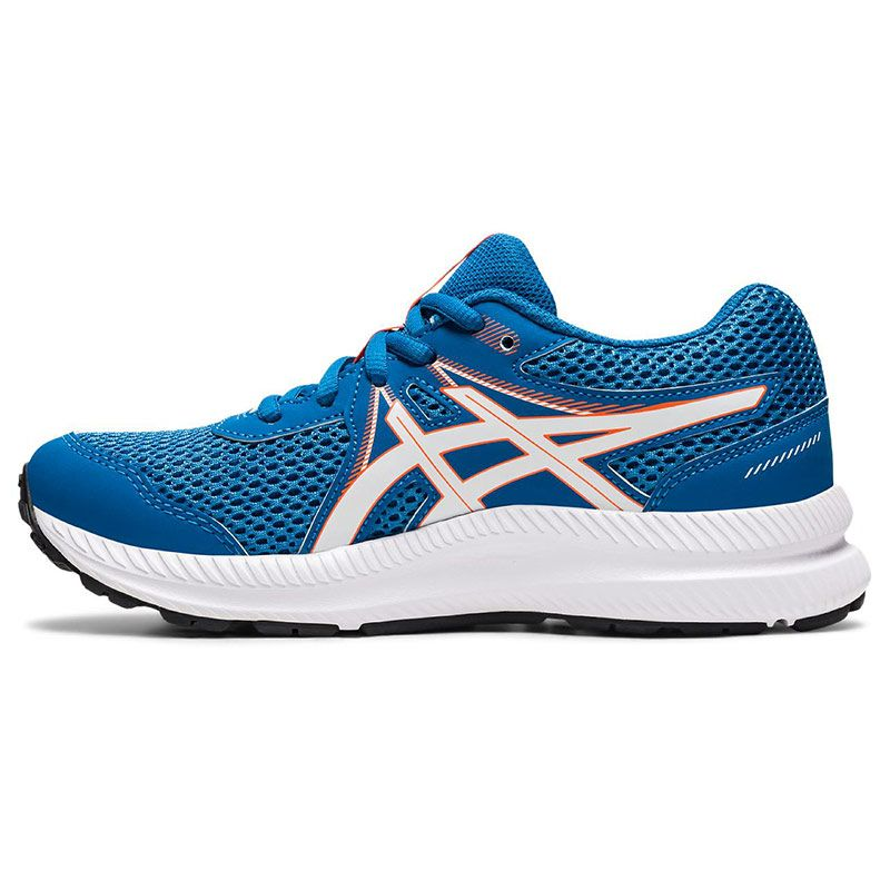 blue, orange and white ASICS Kids' runners with a new mesh upper and improved fit from O'Neills