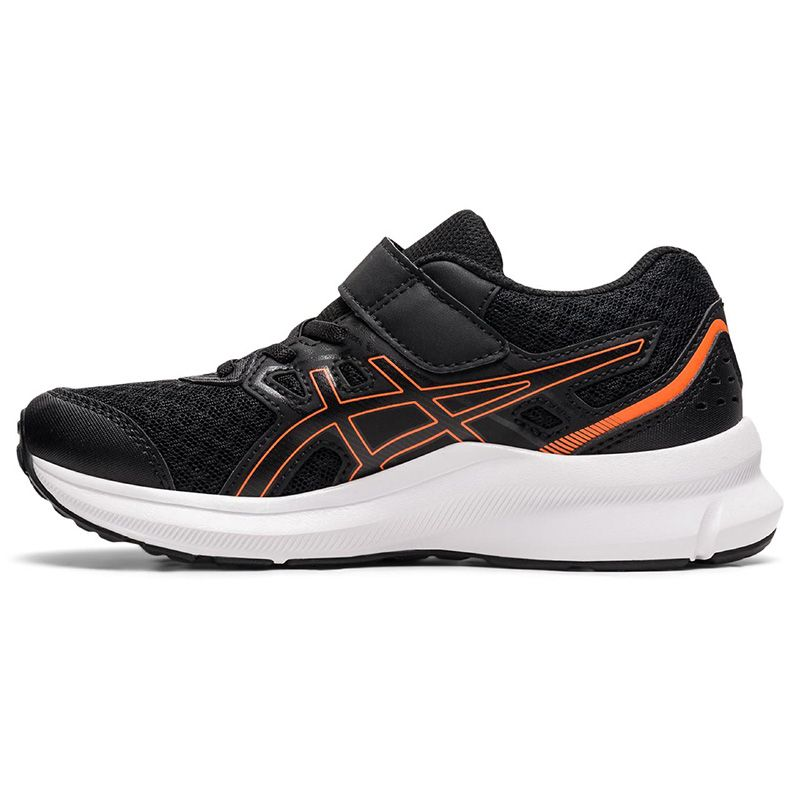 black, blue and orange ASICS Kids' running shoes with improved durability from O'Neills