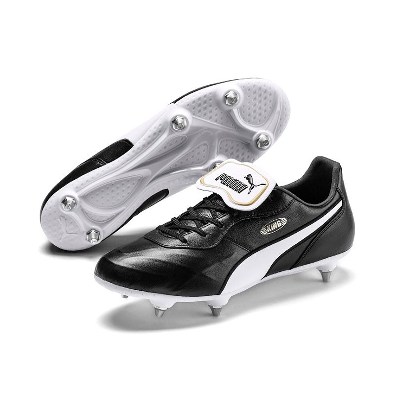Puma King Top SG Football Boots Black / White