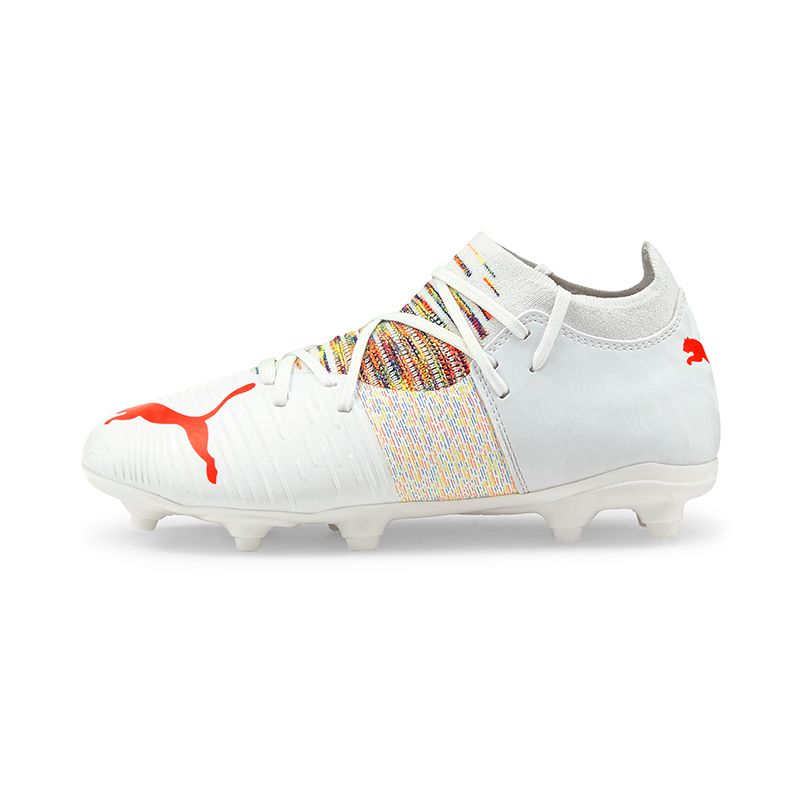 Puma Kids' Future Z 3.1 FG/AG GS Football Boots White / Red Blast