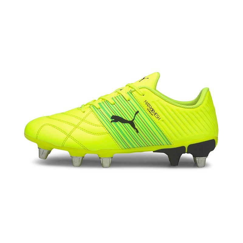 yellow Puma men's rugby boots with lightweight technology from O'Neills
