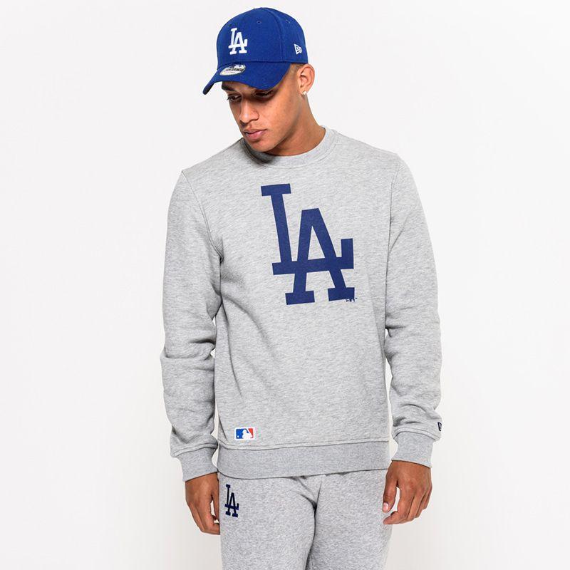 New Era Men's  LA Dodgers Crew Neck Sweatshirt Grey / Blue