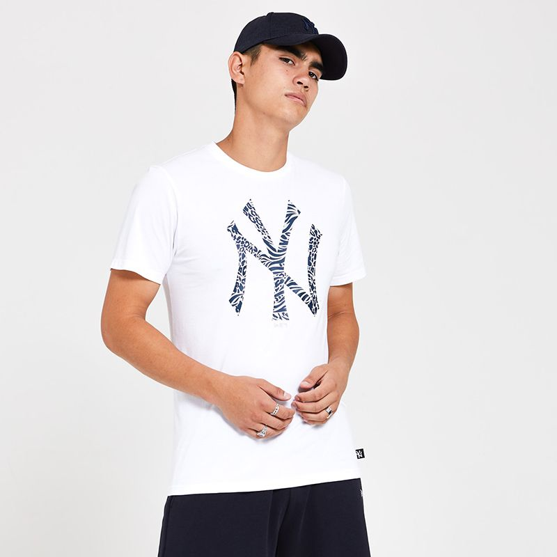 New Era Men's  New York Yankees Infill T-Shirt White
