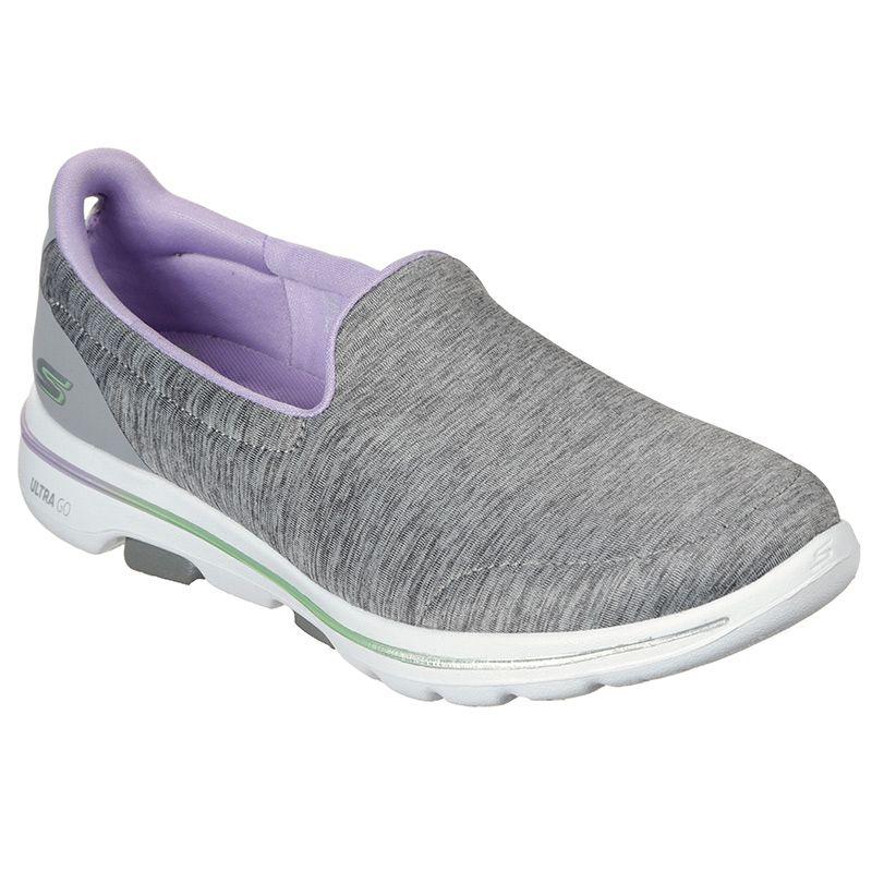 Skechers Women's GOwalk 5™ - Surprise Slip On Trainers Grey / Lavender