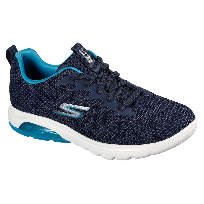 Skechers Women's GOwalk Air - Shadow Trainers Navy / Turquoise