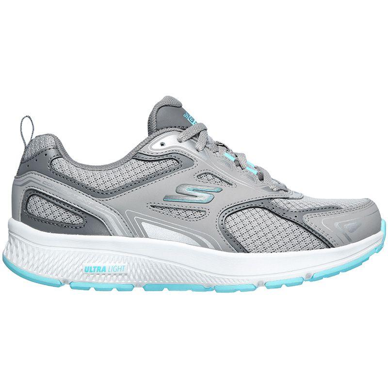 Skechers Women's Go Run Consistent Trainers Grey / Turquoise