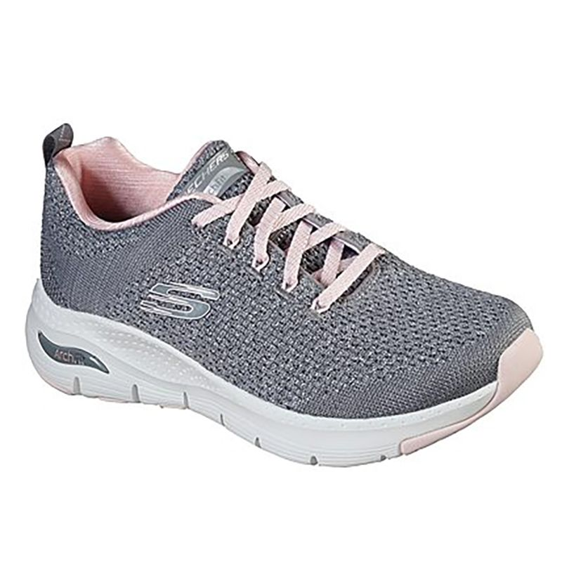 Skechers Women's Arch Fit - Infinite Adventure Trainers Grey / Pink