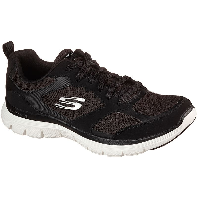 black Skechers women's trainers with an Air Cooled Memory Foam insole from O'Neills
