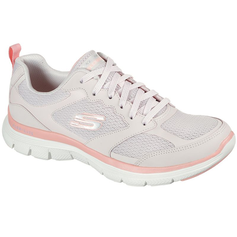light pink Skechers women's trainers with an Air Cooled Memory Foam insole from O'Neills
