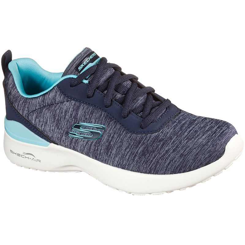 navy and blue Skechers women's trainers with a cushioned, comforting insole from oneills.com