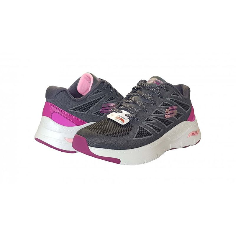 Skechers Women's Arch Fit - She's Effortless Trainers Charcoal / Pink