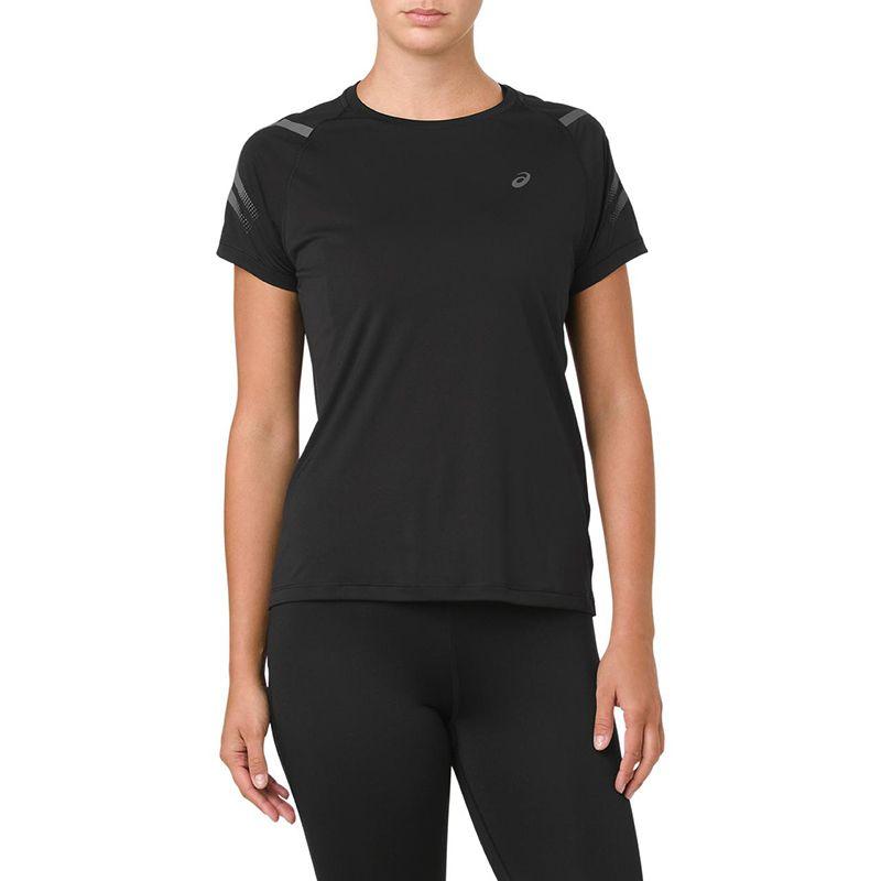 ASICS Women's Icon Short Sleeve T-Shirt Performance Black