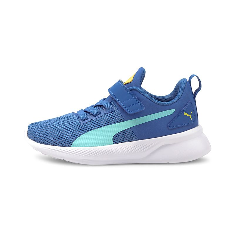 blue and yellow Puma Kids' runners in a lighweight feel from O'Neills