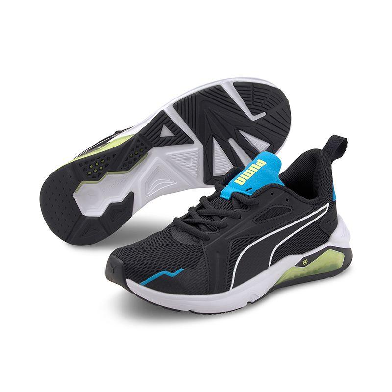 Puma Kids' LQDCELL Method Junior Trainers Black / White / Nrgy Blue