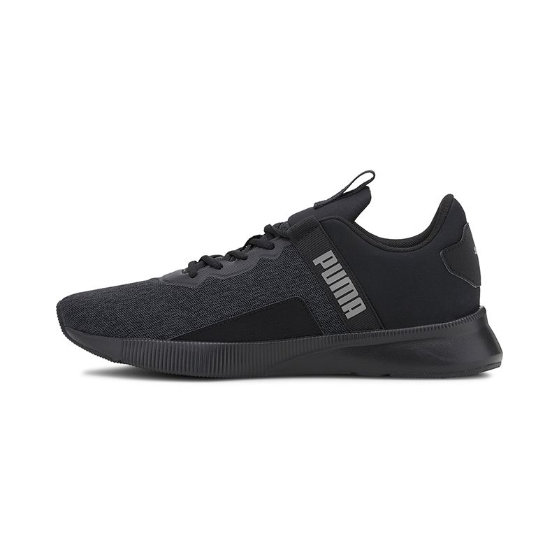 black Puma men's runners with a lace closure and bootie construction from O'Neills