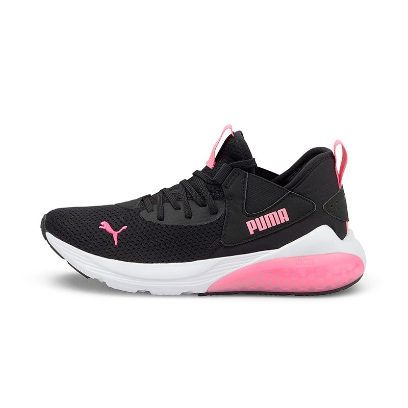 black and pink Puma Kids' runners with stable cushioning and comfort from O'Neills