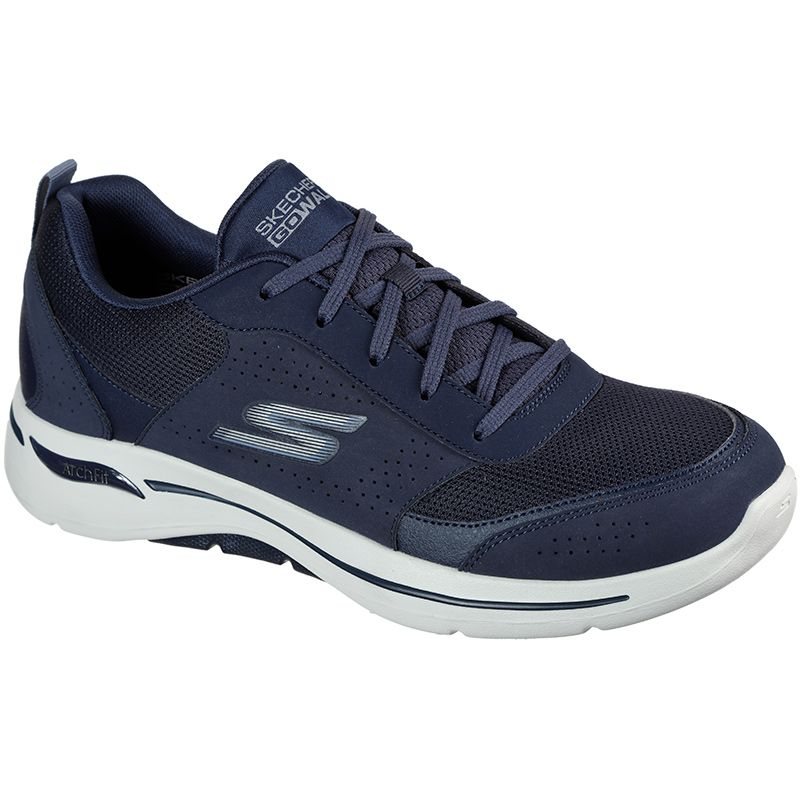navy Skechers men's trainers with a podiatist-certified arch support from O'Neills