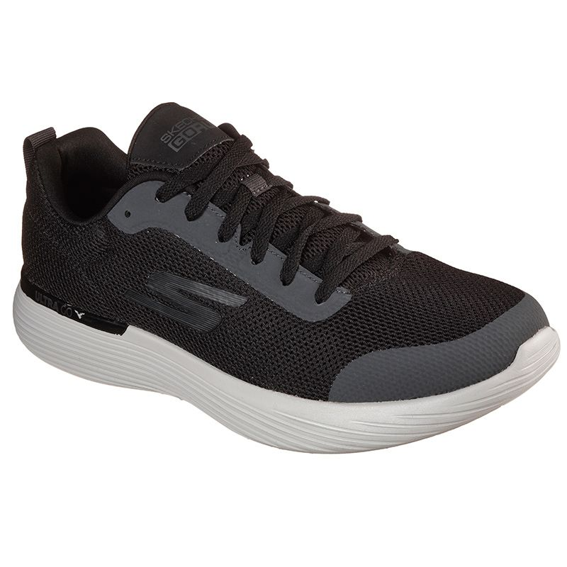 Skechers Men's GOrun 400 V2 - Omega Trainers Black / Grey / White