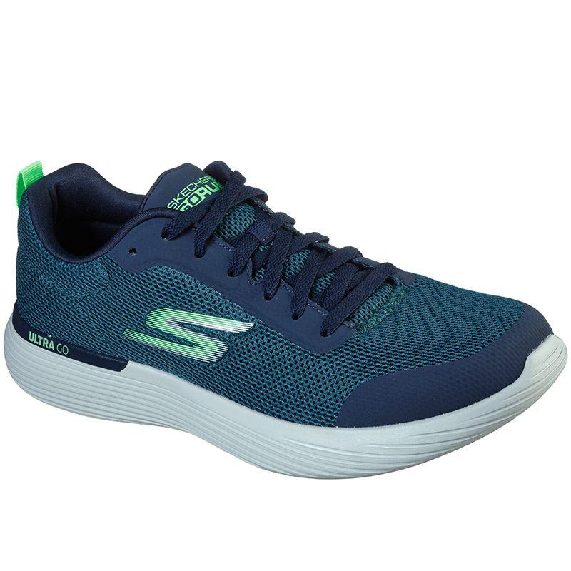 Skechers Men's GOrun 400 V2 - Omega Trainers Green / Navy