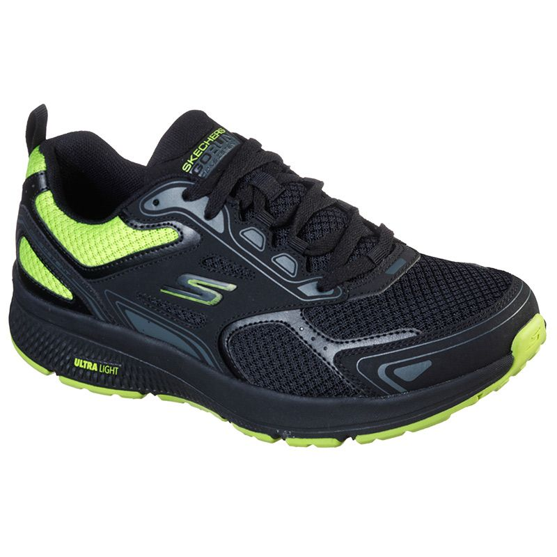 Skechers Men's GOrun Consistent - Vestige Trainers Black / Lime