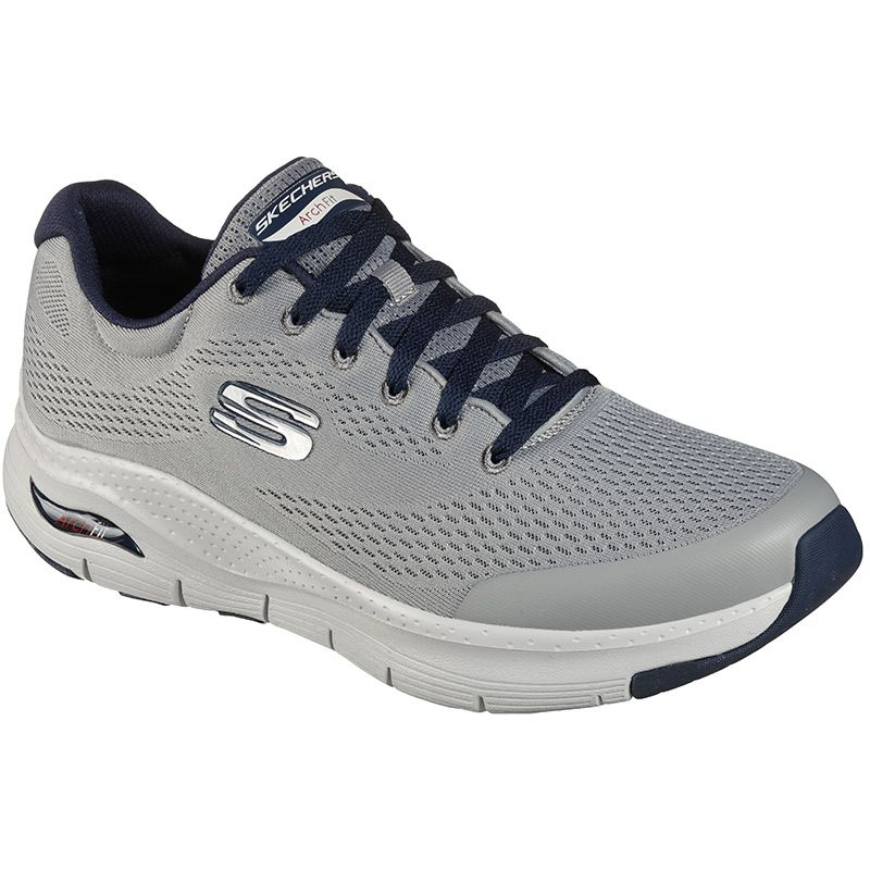 grey Skechers men's runners with sleek synthetic panels for added durability and structure from O'Neills