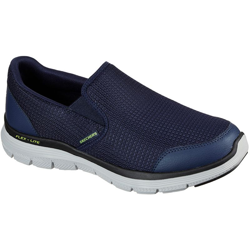 navy SKECHERs men's trainers with breathable functional mesh from O'Neills
