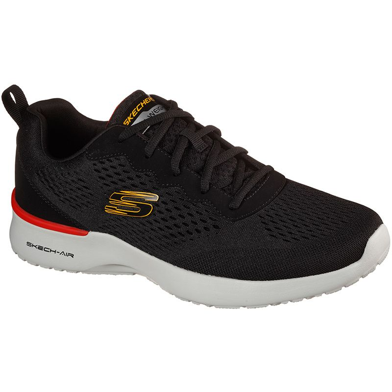 black Skechers men's trainers with a memory foam comfort insole from oneills.com
