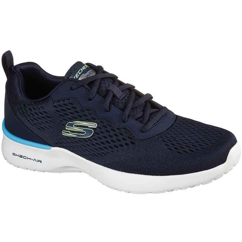 navy Skechers men's trainers with a memory foam comfort insole from oneills.com