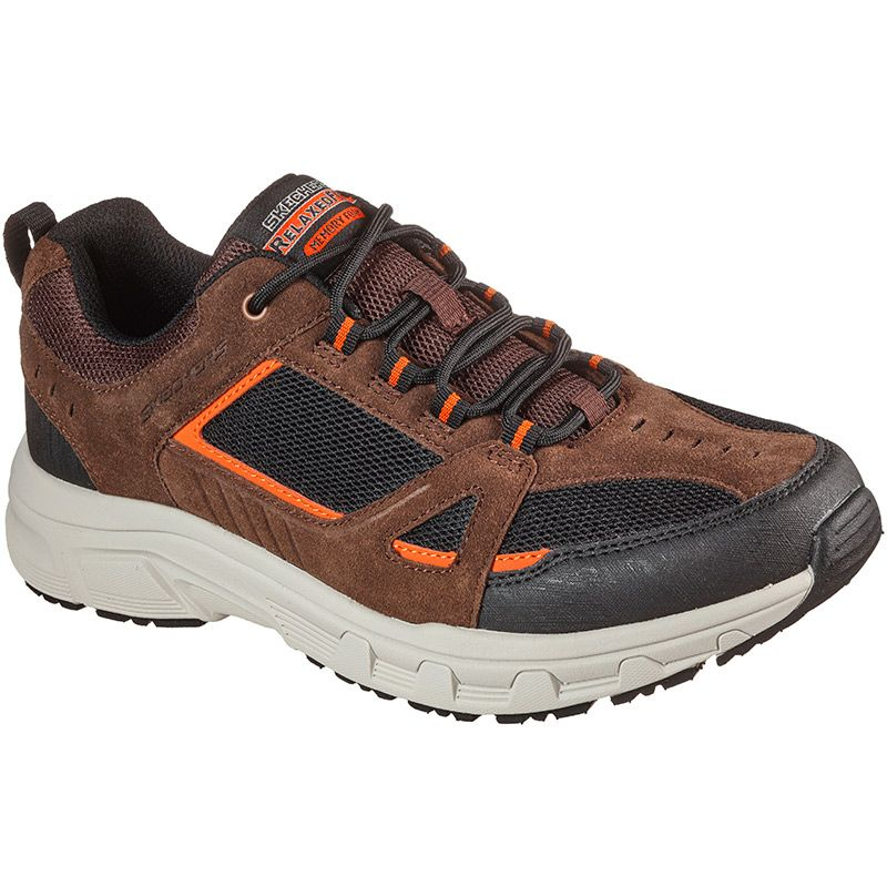 brown and black Skechers men's trainers with a memory foam cushion insole from O'Neills