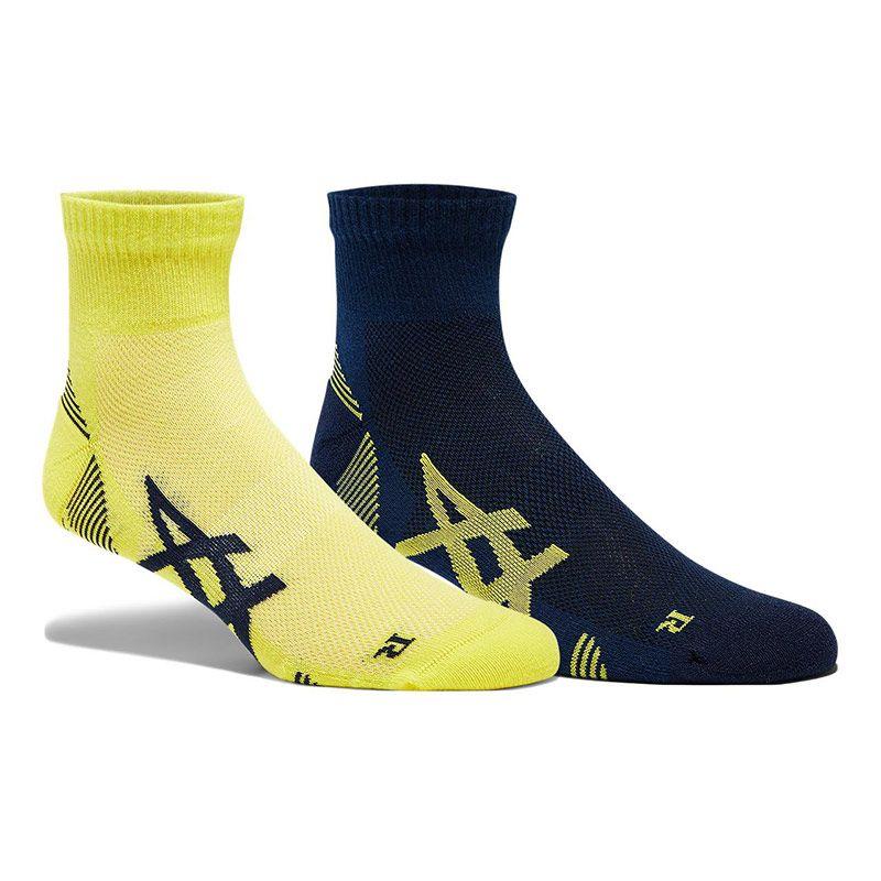 ASICS Men's 2 Pack Cushioning Socks Peacoat / Sour Yuzu