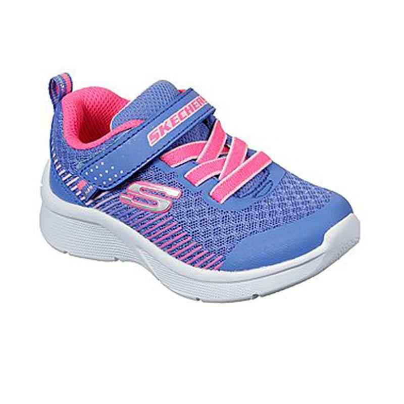 Skechers Kids' Microspec Infant Trainers Blue / Coral