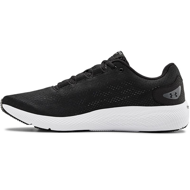 Under Armour Men's Charged Pursuit 2 Running Shoes Black / White / White
