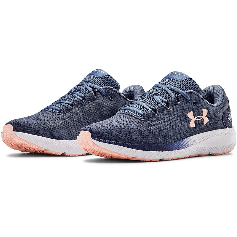Under Armour Women's W Charged Pursuit 2 Trainers Blue Ink / White / Peach Frost